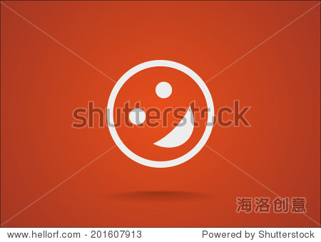 矢量图标橙色背景