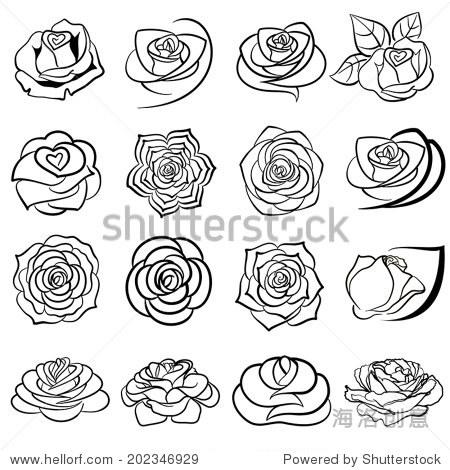 玫瑰花logo图形设计说明