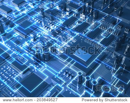幻想电路板.前视图.三维演示 - 工业,科技 - 站酷海洛