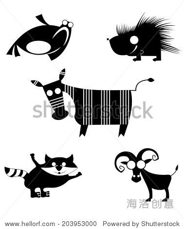 漫画卡通有趣的动物为设计