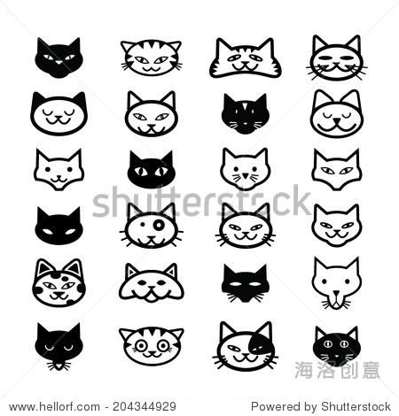 猫的图标,说明