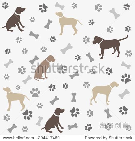 背景,狗爪印和骨骼 - 动物/野生生物,背景/素材 - ,,.