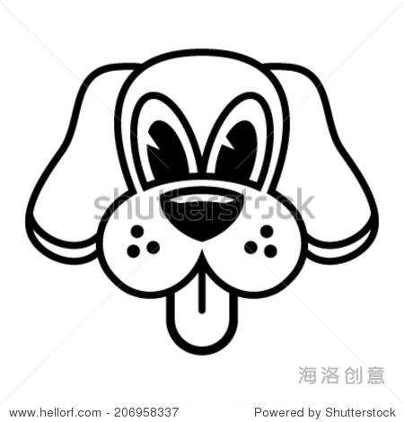 狗脸矢量图标