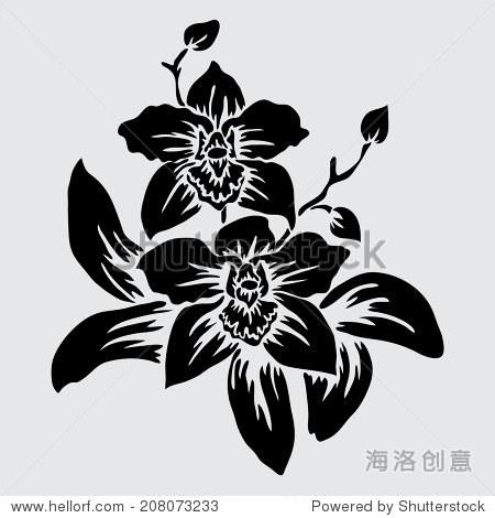 剪纸图案大全简单图解兰花