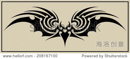 蝙蝠部落纹身 - 符号/标志 - 站酷海洛创意正版图片