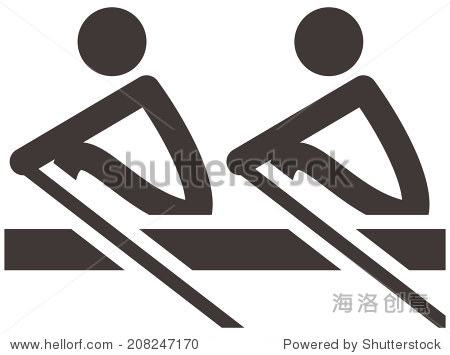 summer sports icons set - rowing icon
