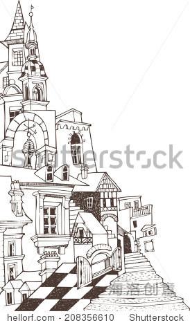 古典城堡d - 建筑物/地标,艺术 - 站酷海洛创意正版