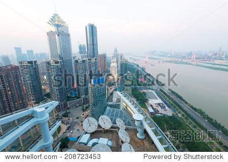 空中城市的观点