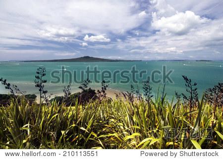 奥克兰城市rangitoto岛塔港,新西兰