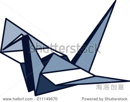 蓝色千纸鹤图标(高res jpg) - 商业/金融,符号/标志