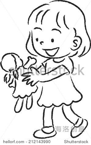娃娃图案简笔画