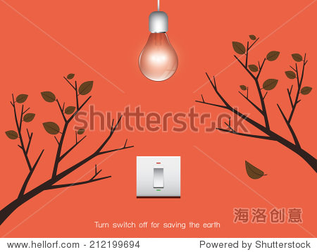 turn switch on and off for saving the earth
