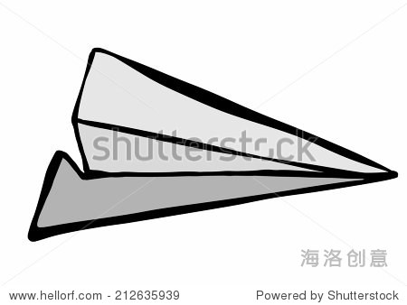 涂鸦纸飞机