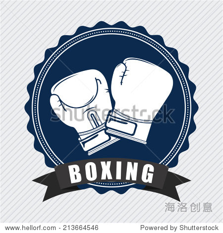 boxing design over lineal background vector illustration