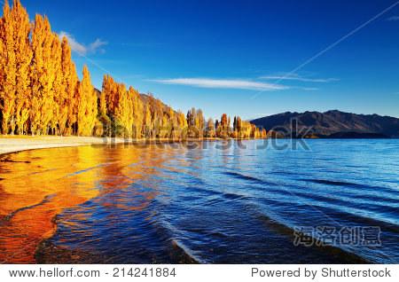 秋天的风景,仍然湖,新西兰 - 自然,公园/户外 - 站酷