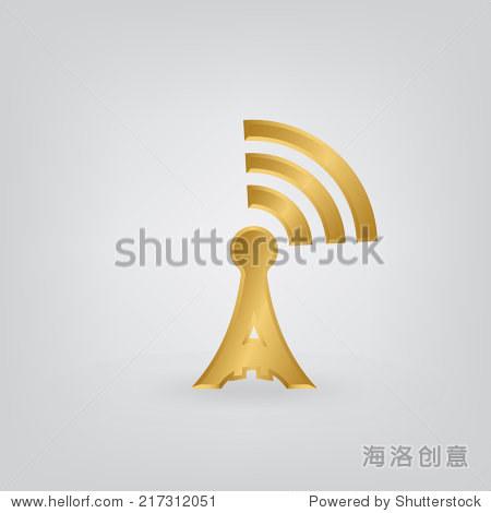 无线电塔图标.-科技,符号/标志-海洛创意正版图片,,-.