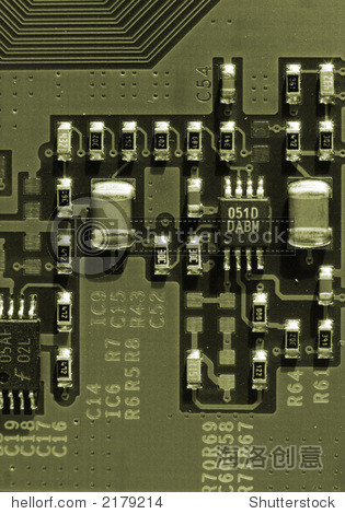 计算机电路板的特写镜头