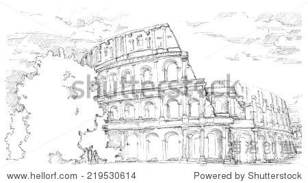 意大利罗马当地的建筑