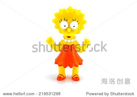 泰国曼谷——2014年6月3日:丽莎·辛普森图玩具人物辛普森家族的.
