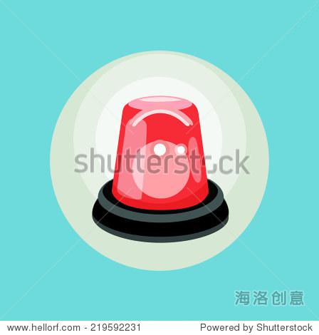 红色警报平面设计矢量图标 - 物体,符号/标志 - 站酷