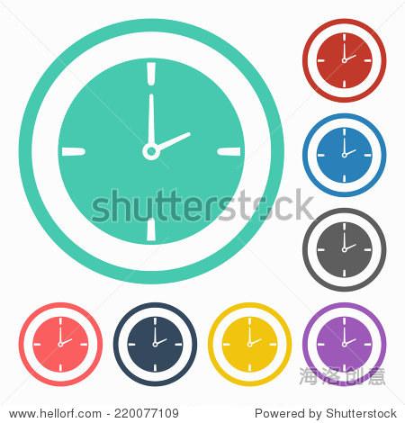 时钟图标 - 符号/标志 - 站酷海洛创意正版图片,视频