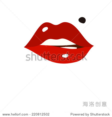 可爱嘴唇logo