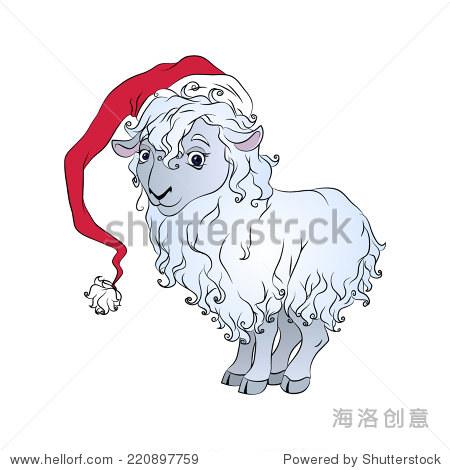 彩色卡通可爱的羊