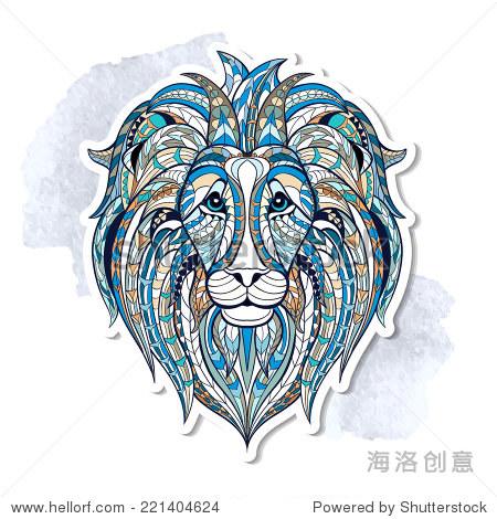 民族狮子/非洲/印度/图腾 - 动物/野生生物,符号/标志