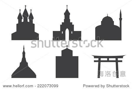 churches pagoda sin to jewish synagogal mosque.