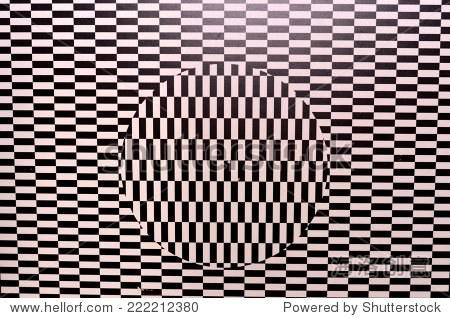 视错觉变形几何无缝的背景图案