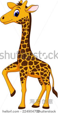 卡通可爱的长颈鹿 - 动物/野生生物
