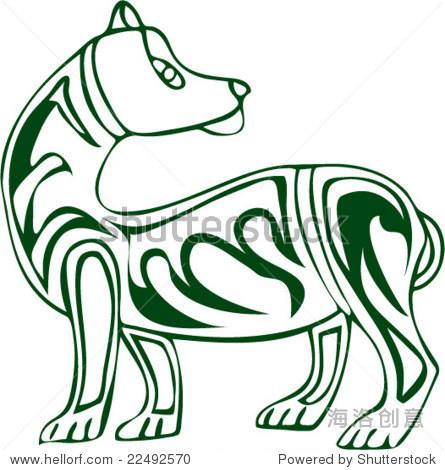 欧洲神话动物模式向量的艺术从古代壁画