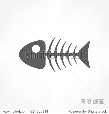 鱼骨头的图标 - 符号/标志 - 站酷海洛创意正版图片
