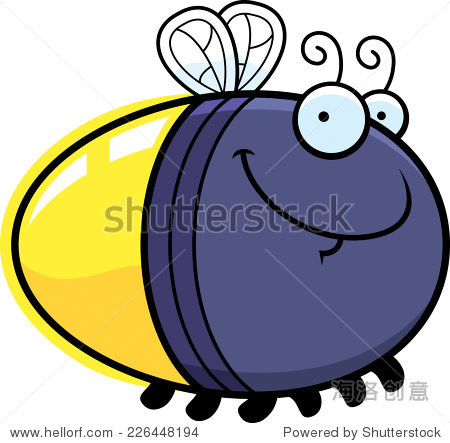 萤火虫的卡通插图寻找快乐 动物 野生生物 站酷海洛创意正版图片,