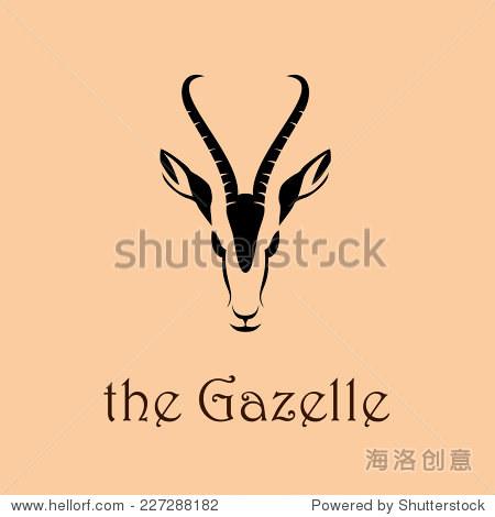 矢量信号抽象的非洲羚羊 - 动物/野生生物,符号/标志
