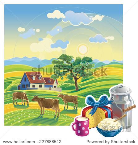 农村夏天的风景