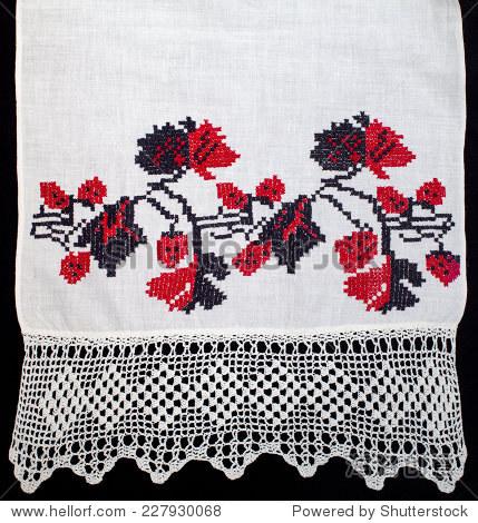 花绣十字绣图案,民族饰品