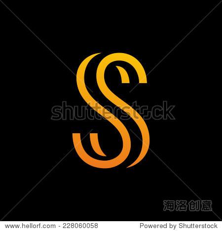 字母s标志图标设计模板元素