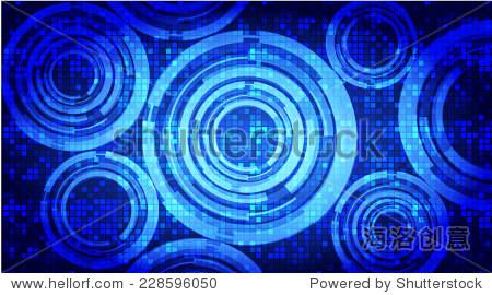 深蓝色的光抽象的技术背景为计算机图形网站互联网.电路板.文本框