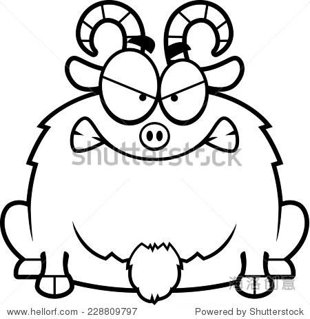 小山羊的卡通插图看疯了.
