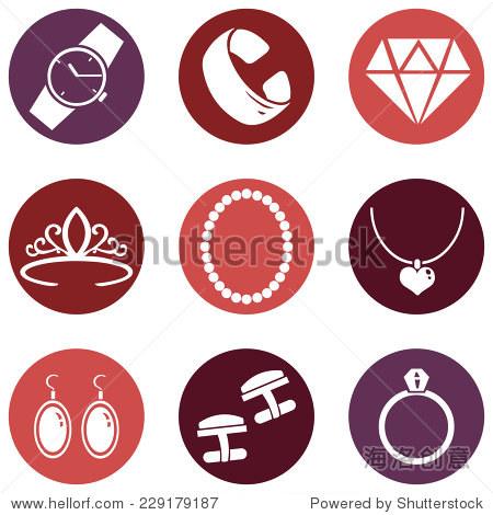 向量组珠宝图标图片