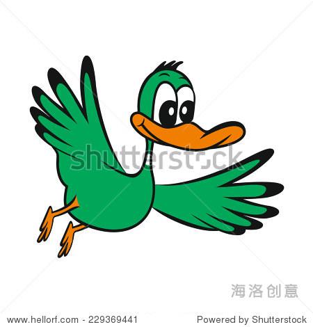 卡通可爱的鸭子