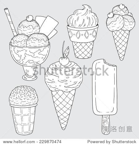 冰淇淋创意变形简笔画