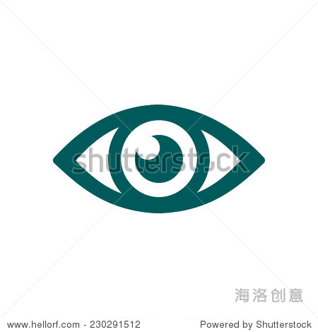 eye icon. flat design style.图片