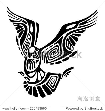 黑色向量飞行鸟轮廓孤立在白色的