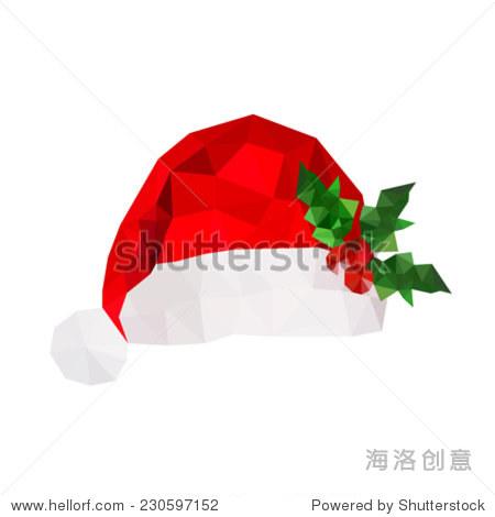 说明折纸圣诞帽的冬青树叶