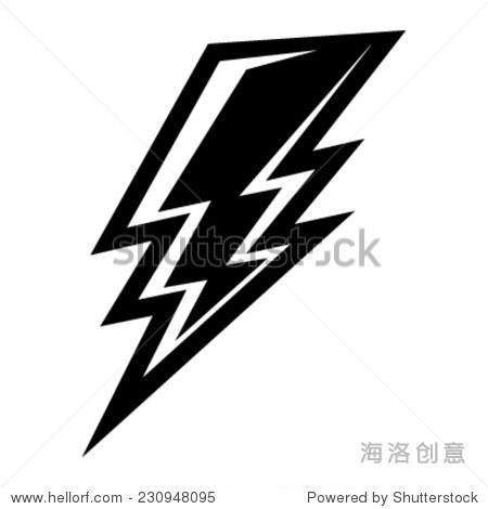 闪电矢量图标 - 自然,符号/标志 - 站酷海洛创意正版