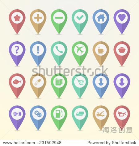 设置地图指针图标 - 商业/金