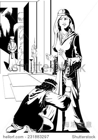 王后以斯帖和哈曼从圣经 - 人物,宗教 - 站酷海洛