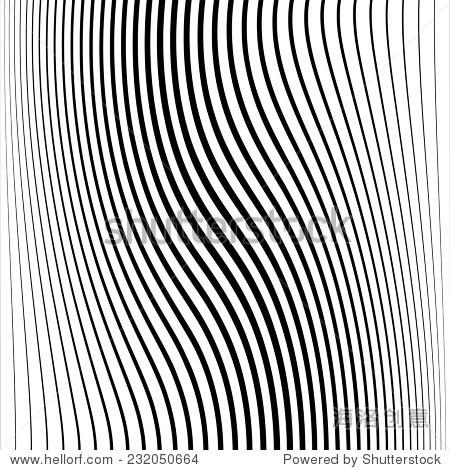 摘要向量条纹背景.黑白条纹纹理集合.波条纹.水平曲线